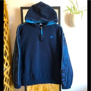 Vintage 90s Starter 1/4 zip Hoodie Pullover